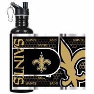 New Orleans Saints Hi-Def Black Stainless Steel Water Bottle