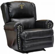 New Orleans Saints Leather Coach Recliner