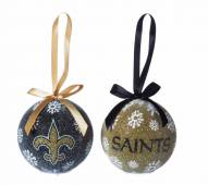 New Orleans Saints LED Boxed Ornament Set