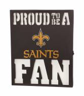 New Orleans Saints Metal LED Wall Sign