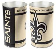 New Orleans Saints Metal Wastebasket