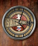 New Orleans Saints NFL Chrome Wall Clock