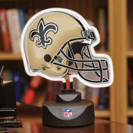 New Orleans Saints Neon Helmet Desk Lamp