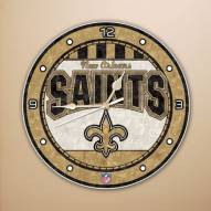 New Orleans Saints NFL Stained Glass Wall Clock