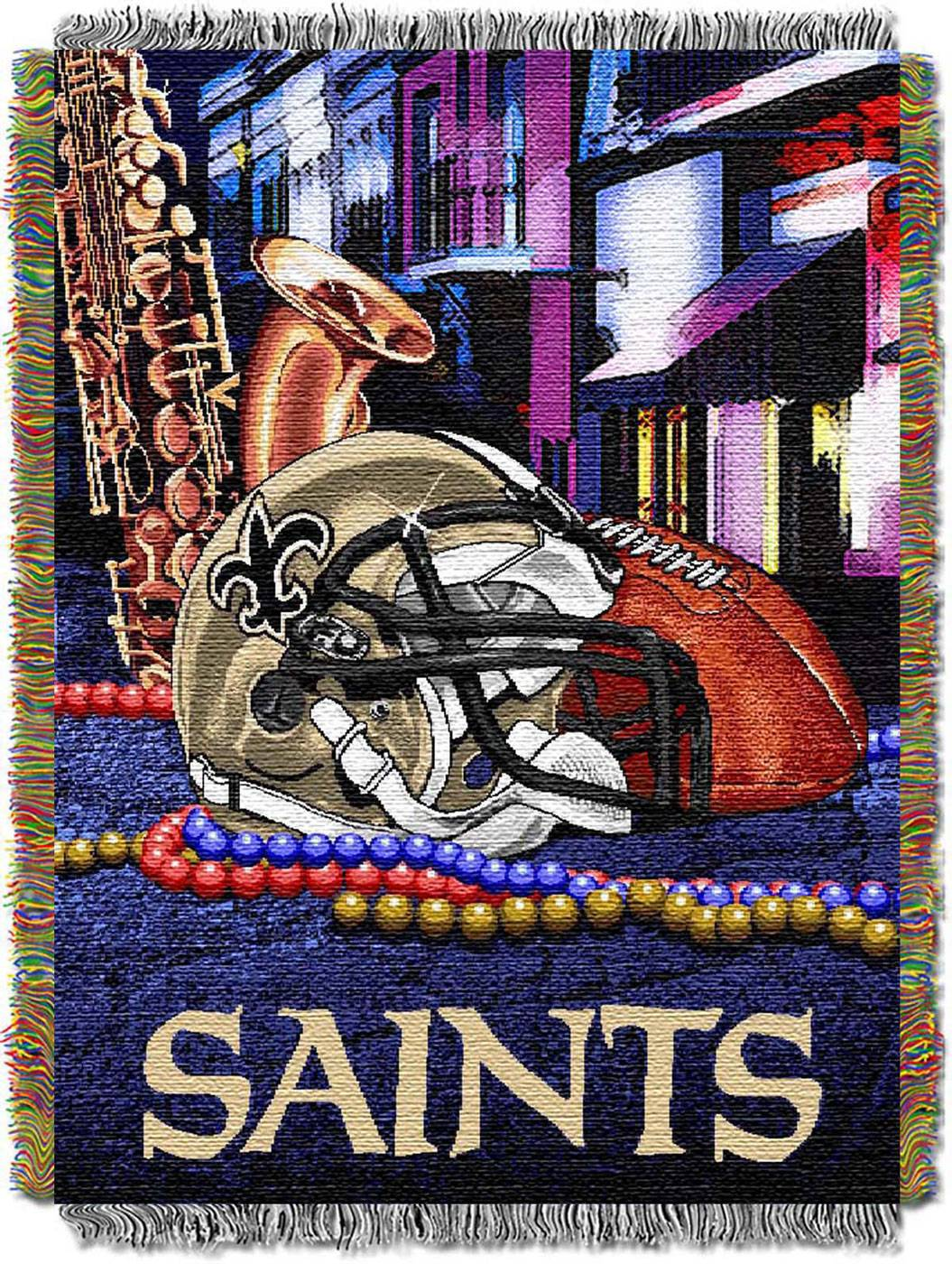 New Orleans Saints Nfl Woven Tapestry Throw