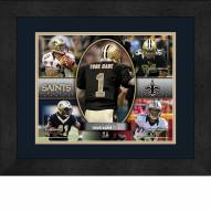 New Orleans Saints Personalized 13 x 16 Framed Action Collage