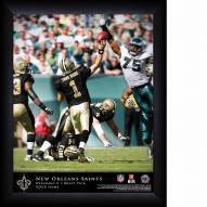 New Orleans Saints Personalized NFL Action QB Framed Print