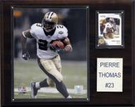 "New Orleans Saints Pierre Thomas 12 x 15"" Player Plaque"