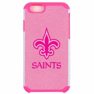 New Orleans Saints Pink Pebble Grain iPhone 6/6s Plus Case
