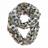 New Orleans Saints Plaid Sheer Infinity Scarf