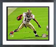 New Orleans Saints Robert Meachem Super Bowl XLIV Action Framed Photo
