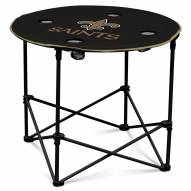 New Orleans Saints Round Folding Table