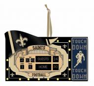 New Orleans Saints Scoreboard Tree Ornament