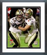 New Orleans Saints Scott Shanle & David Thomas Super Bowl XLIV Action Framed Photo
