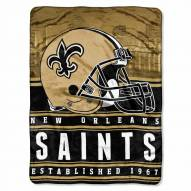 New Orleans Saints Silk Touch Stacked Blanket