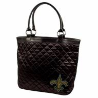 New Orleans Saints Sport Noir Quilted Tote