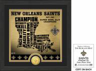 New Orleans Saints State Bronze Coin Photo Mint