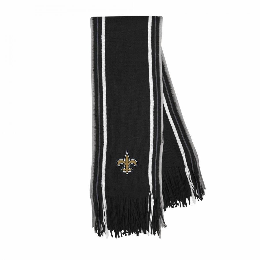 New Orleans Saints Stripe Fringe Scarf