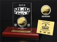New Orleans Saints Super Bowl XLIV Champions Etched Acrylic