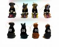 New Orleans Saints Team Dog Ornaments