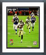 New Orleans Saints Tracy Porter Super Bowl XLIV Interception TD Return Framed Photo