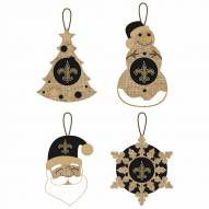 New Orleans Saints Vintage Burlap Ornaments