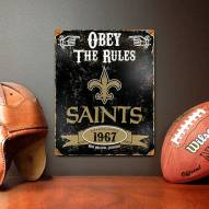 New Orleans Saints Vintage Metal Sign