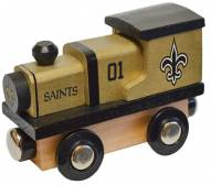 New Orleans Saints Wooden Toy Train