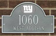 New York Giants NFL Personalized Address Plaque - Pewter Silver