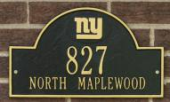 New York Giants NFL Personalized Address Plaque - Black Gold