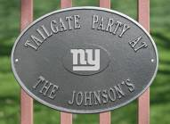 New York Giants NFL Personalized Logo Plaque - Pewter Silver