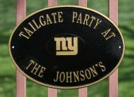 New York Giants NFL Personalized Logo Plaque - Black Gold