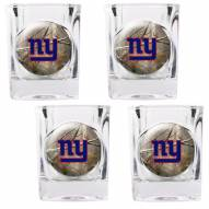 New York Giants Open Field 4-Piece RealTree Square Shot Glass Set