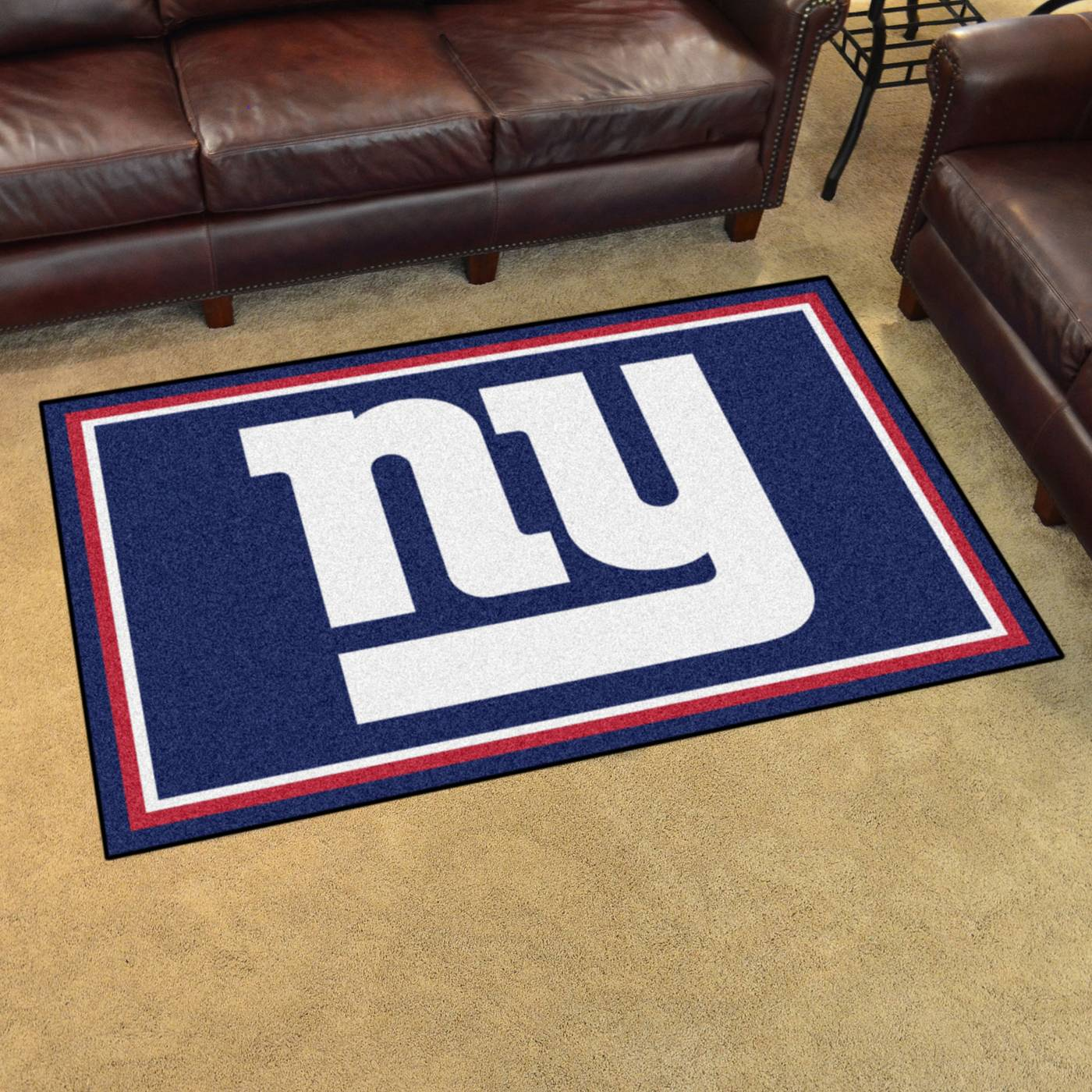 Ny giants area rug for Area rugs new york