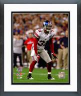 New York Giants Aaron Ross Super Bowl XLII Action Framed Photo