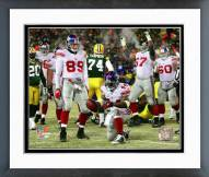 New York Giants Ahmad Bradshaw 2007 Playoff Action Framed Photo