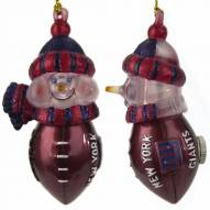 New York Giants All-Star Light Up Snowman Ornament