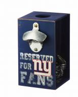 New York Giants Bottle Opener Cap Caddy