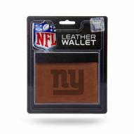 New York Giants Brown Leather Trifold Wallet