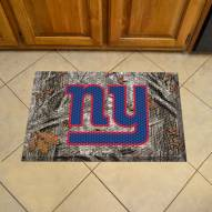New York Giants Camo Scraper Door Mat
