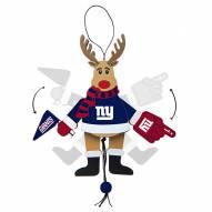 New York Giants Cheering Reindeer Ornament