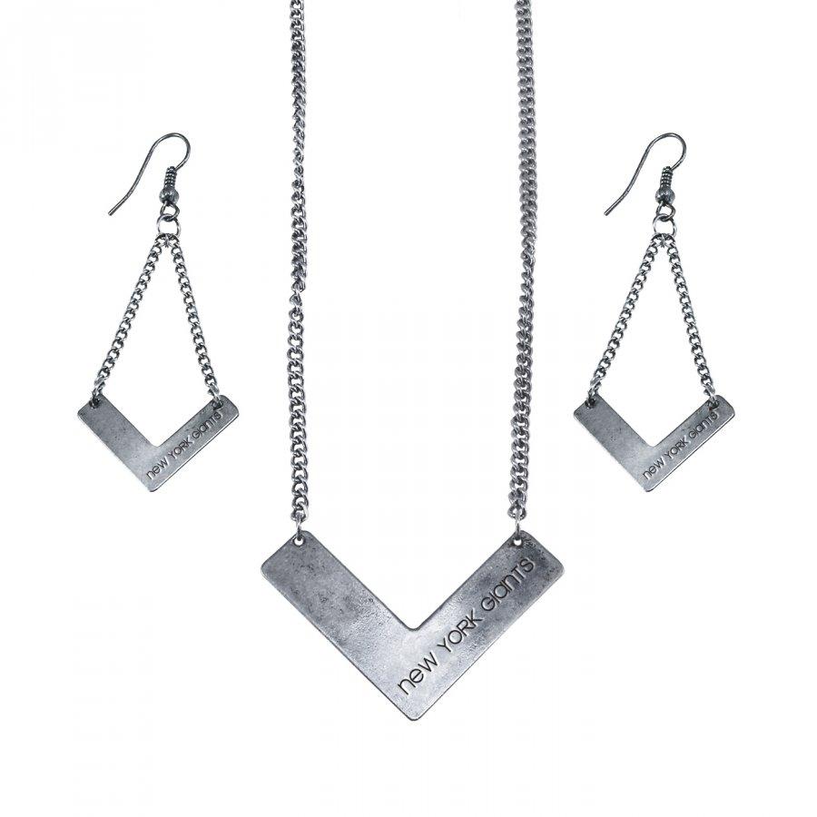 New York Giants Chevron Jewelry Set