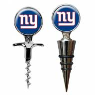 New York Giants Cork Screw & Wine Bottle Topper Set