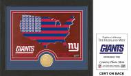 New York Giants Country Bronze Coin Photo Mint