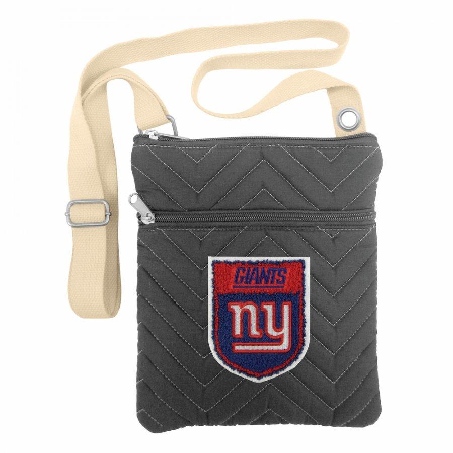 New York Giants Crest Chevron Crossbody Bag