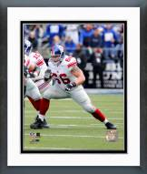 New York Giants David Diehl Action Framed Photo