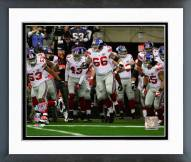 New York Giants David Diehl Super Bowl XLII Introduction Framed Photo