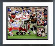 New York Giants David Tyree and Eli Manning Super Bowl XLII Multi Exposure Framed Photo