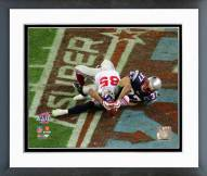 New York Giants David Tyree SuperBowl XLII Action Framed Photo