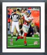 New York Giants Domenik Hixon Super Bowl XLII Action Framed Photo